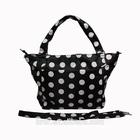 OEM High Quality Black Nylon Tote Diaper Bag with Shoulder Belt