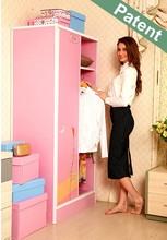 Simple fancy assemble folding plastic formaldehyde free bedroom wardrobe / closet / cabinet