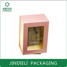 Personalized fashion pink perfume box with clear window
