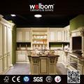 estilo europeu de venda superior de madeira sólida armários de casa de cozinha personalizado