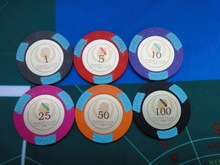 plastic poker chips with pvc sticker ( can custom any logo )