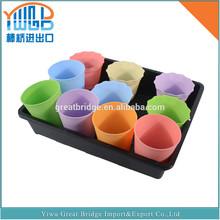 China Yiwu customized plastic flower pot tray