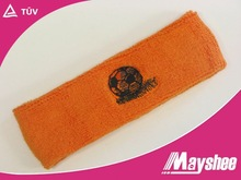 basketball embroidered 100% cotton Terry towel headband for promotion