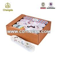 Mini metal tin pencil box with CMYK printing