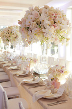 table wedding decoration artificial latex flowers