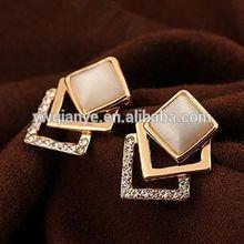 fashion popular new Opal with diamond earrings