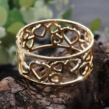 2015 Lady Accessory Zinc Alloy Gold Plated Heart Bracelet