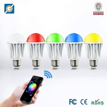 Bluetooth Series!!! iPhone/iPad/iPod touch, android phone or tablet bluetooth controlled color-changing LED light bulb
