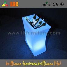 2015 light led table with ice bucket / led ice bucket for table