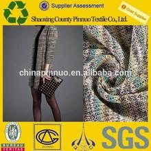 Circle printed knit sweater fabric