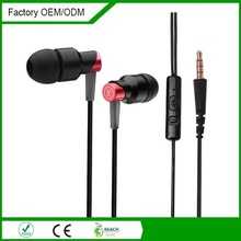 Accessment supplier high quality fashion waterproof earphone with volume control