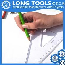 Custom brand 45 degree triangle thick inch cm plastic ruler