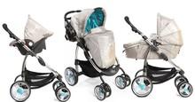 EN 1888 folding and light weight baby stroller 3 in 1 pram car seat