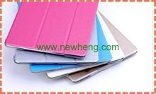 Cheap price silk grain ultra thin leather case for apple ipad air 2