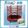 "55"" mini trampoline with safety net for kids, 55inch high jump mini trampoline with enclosure, small enclosed trampoline XA1010"