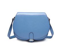Handbag factory lady PU leather sling bag round shape