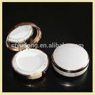 GS0212 plastic round empty cream box with mirror