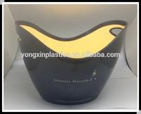 PS 7L shoe-shaped gold ingot plastic ice bucket