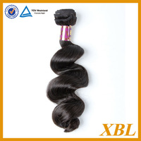 """XBL Hair Products Unprocessed Virgin Brazilian Loose Wave Hair 3pcs/lot 100% Human Hair Weave Natural Color 16"""" 18"""" 20"""""""