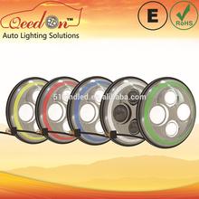 Qeedon 7inch LED Round ECE E-mark DOT beam 230w moving head light headlight with turning light for Mahindra thar