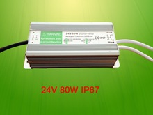 Constant voltage waterproof LED electornic driver 24V 80W
