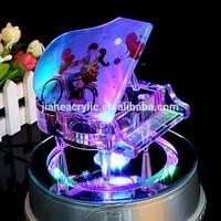 custom made electronic crystal piano shape music box