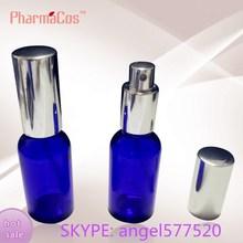 bleu 30ml bouteille en verre avec pompe de pulvérisation pour la vente arôme diffuseur