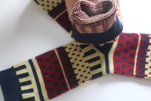 fashion trend of back-to-ancients cotton warm women SOCKS