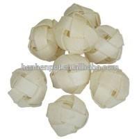 Pet food dog chew Rawhide white braided ball