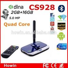 CS928 RK3288 Quad Core Android 4.4 TV Box 2G/16G 5.0MP XBMC 4K tv tuner box