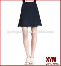 Mini - jupe 2015 Spring fashion mini skirt for sexy women lace hem