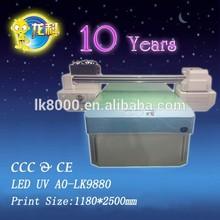 LED UV A0-LK9880 NEW! A0 size digital glass printer for pen,metal,photo,plastic,leather,ceramics ,etc