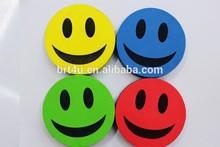 Smile face shaped magnetic whiteboard eraser