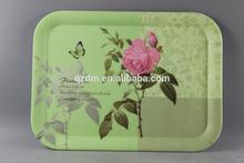 Flower Art Design Melamine Trays