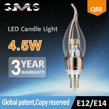 Dubai ceiling light shenzhen export led candle light , E12 E14 bulb light
