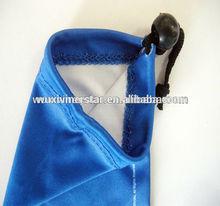 occhiali in microfibra sacchetto con cordoncino singolo blu occhiali da vista con un tappo di plastica