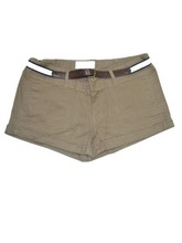 Sexy ladies slim pants khaki hot shorts with special belt
