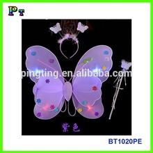 Multicolor little girls led fairy wings