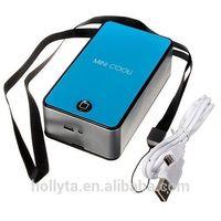 Mini Portable USB Desktop Bladeless Fan Refrigeration Air Conditioner 4 Colors
