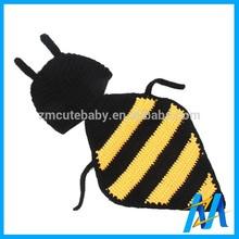 Lovely Honeybee Design Crochet Knitting Winter Hat Child New Product Baby Crochet Knitting Cap and Beanie Hat
