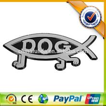 3D Custom ABS Chrome Fish Shape Car Badge Emblem