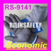 RILIN SAFETY rolling ball massager ,Short-sleeve metal safety gloves