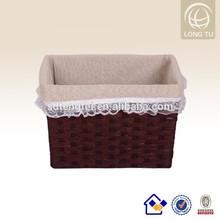 coffee wicker storage bins picnic 2015 hot sales storage bin