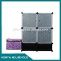 elegante y elegante gabinete de almacenamiento de plástico 5 cajones