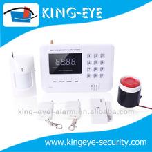 wireless gsm+pstn travel burglar alarm with 10 seconds' recording