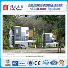 2015 ISO & SGS Energy savings light steel prefabricated villa in Africa