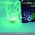 14oz PS led colorful skull handle glass cup mug