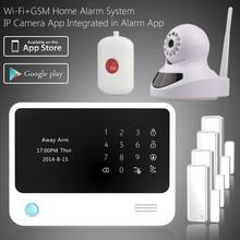 Live OLED display easy operation DIY home alarm system &fashion WiFi GSM alarm , intelligent wireless anti-burglar alarm system