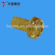 Heying Plastic Screw Metric cheese round head screw PEI material M3x6p