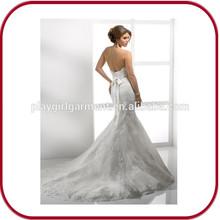 2015 Sexy Mermaid white wedding dress PGGD-0019